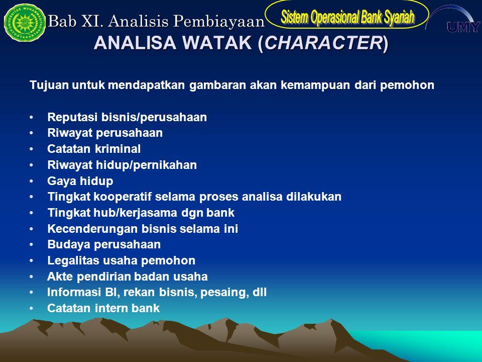 ANALISA WATAK (CHARACTER)
