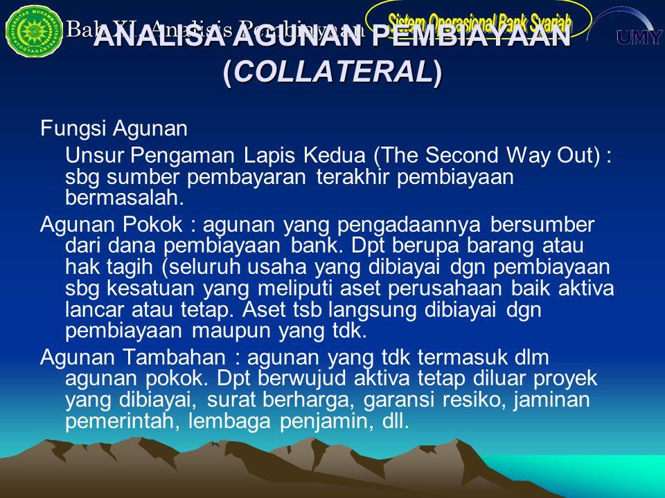 ANALISA AGUNAN PEMBIAYAAN (COLLATERAL)