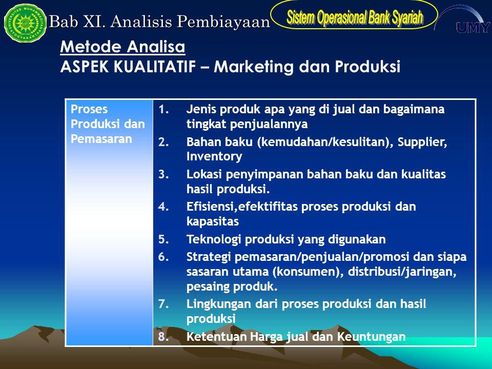ASPEK KUALITATIF – Marketing dan Produksi