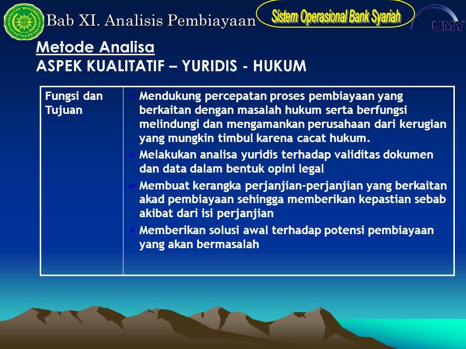 ASPEK KUALITATIF – YURIDIS - HUKUM
