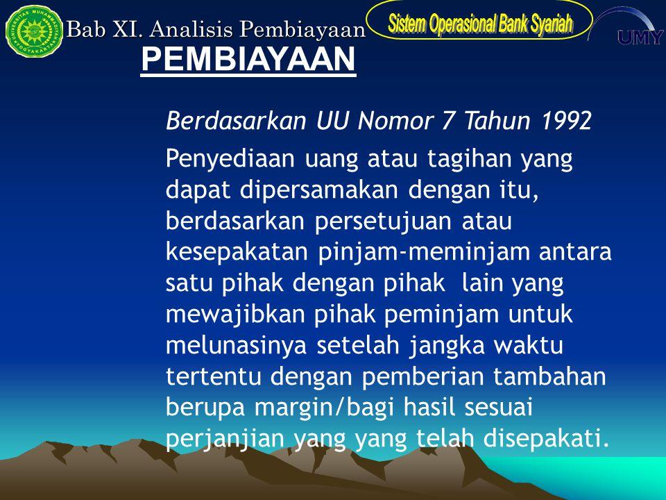 PEMBIAYAAN Berdasarkan UU Nomor 7 Tahun 1992