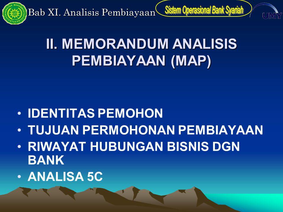 II. MEMORANDUM ANALISIS PEMBIAYAAN (MAP)