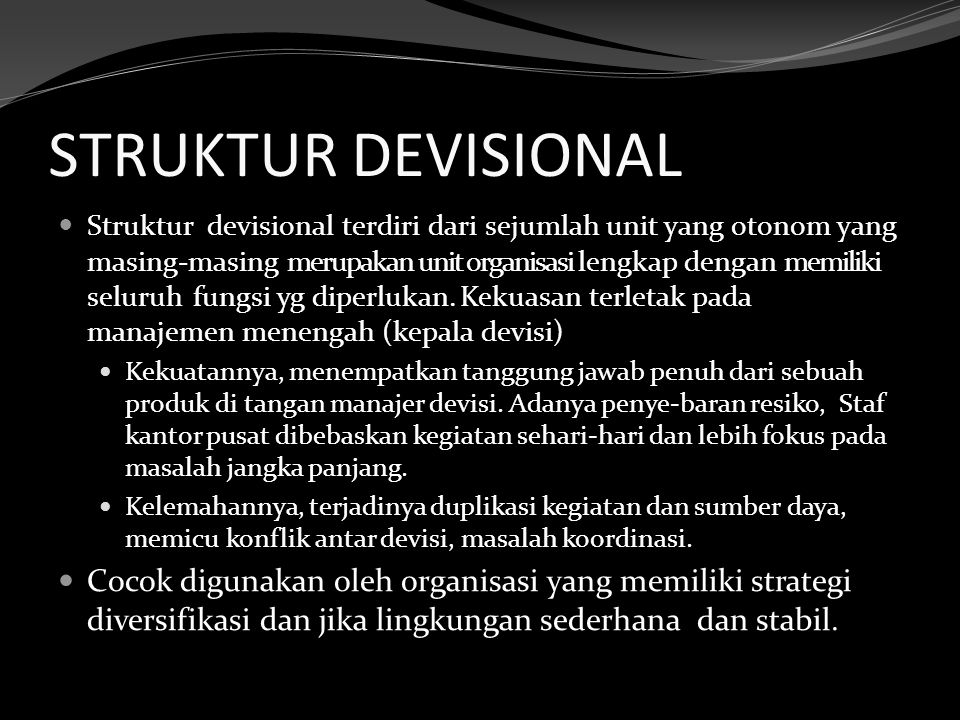 STRUKTUR DEVISIONAL