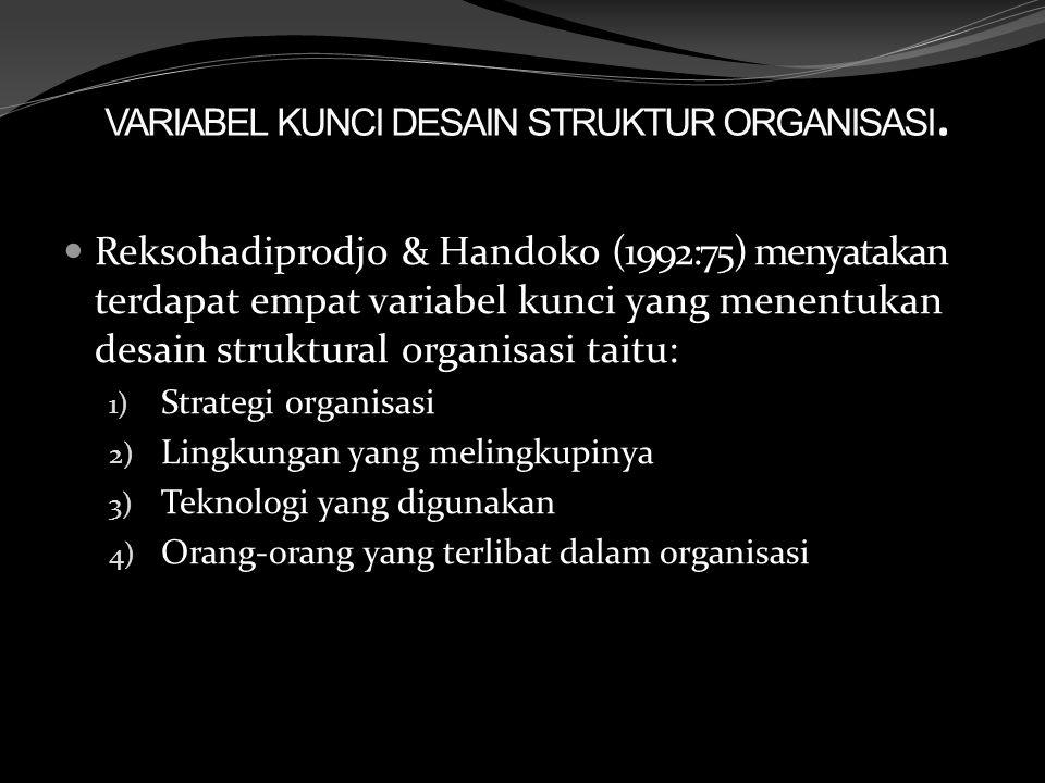 VARIABEL KUNCI DESAIN STRUKTUR ORGANISASI.