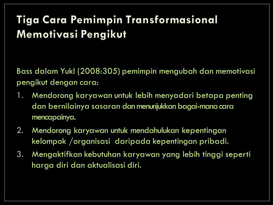 Tiga Cara Pemimpin Transformasional Memotivasi Pengikut