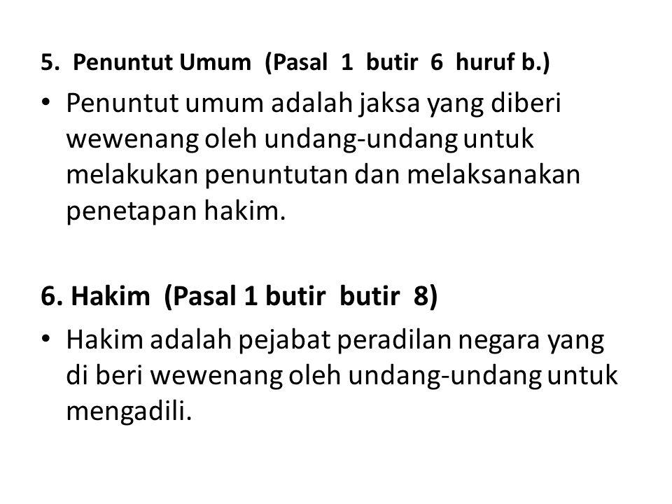 6. Hakim (Pasal 1 butir butir 8)