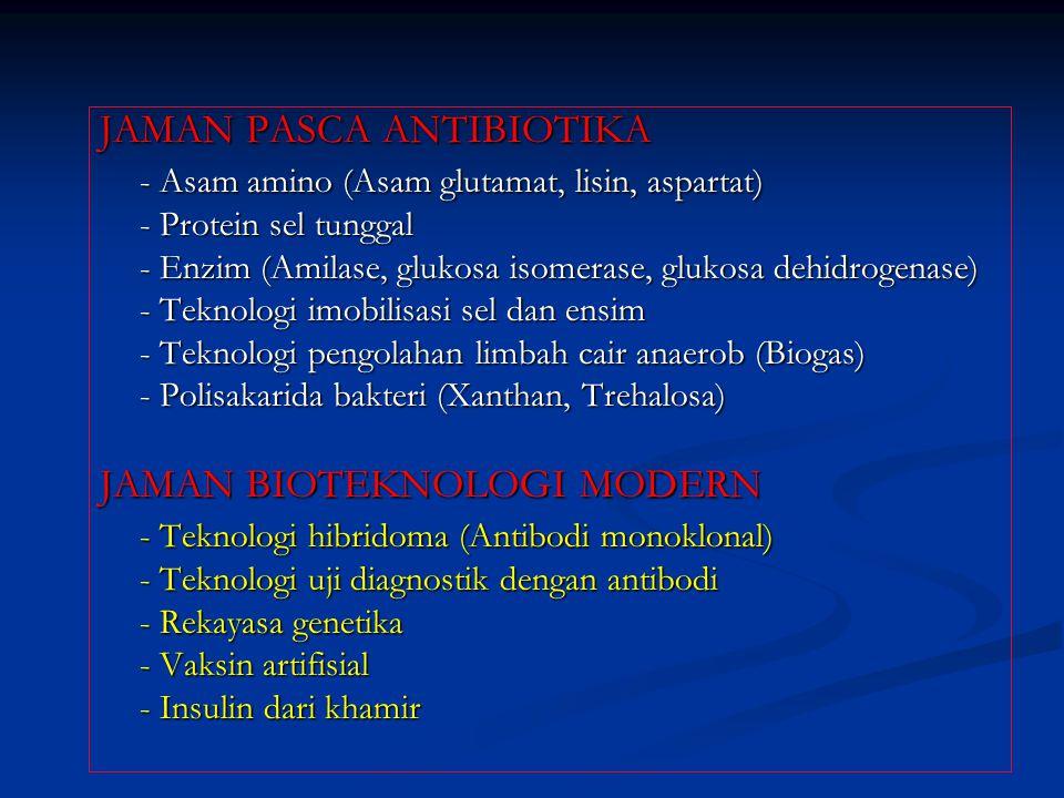 JAMAN PASCA ANTIBIOTIKA - Asam amino (Asam glutamat, lisin, aspartat)