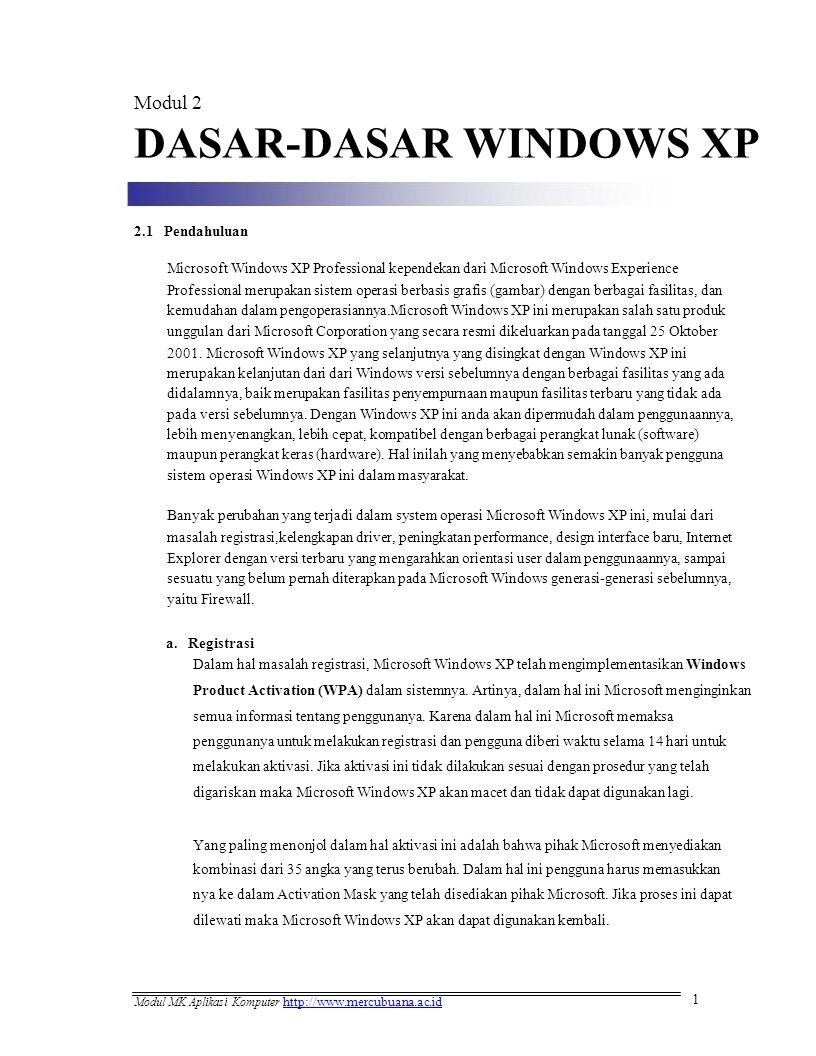DASAR-DASAR WINDOWS XP