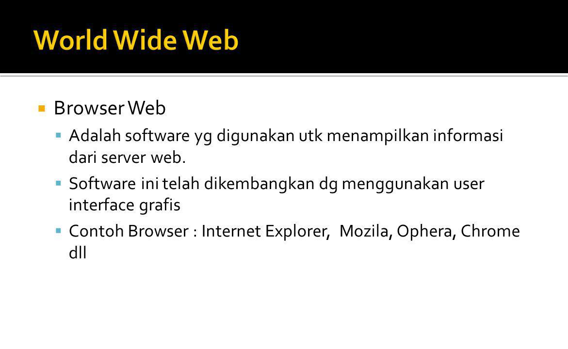World Wide Web Browser Web