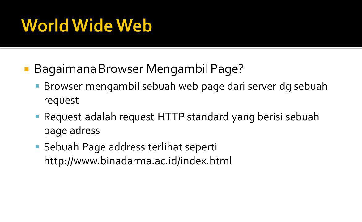 World Wide Web Bagaimana Browser Mengambil Page