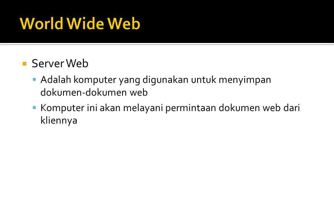 World Wide Web Server Web