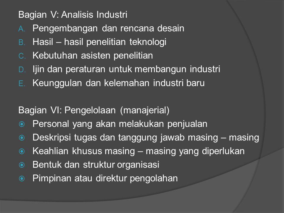Bagian V: Analisis Industri