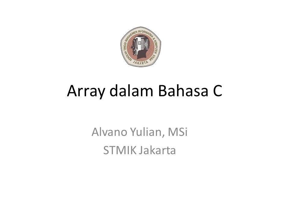 Alvano Yulian, MSi STMIK Jakarta