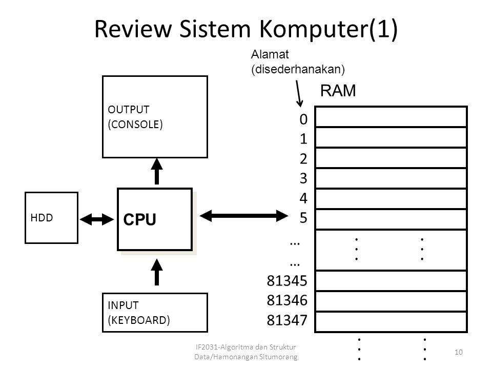 Review Sistem Komputer(1)