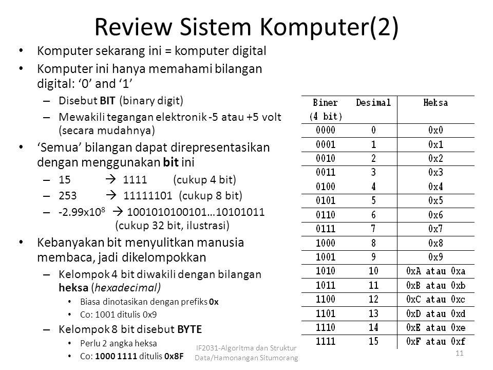 Review Sistem Komputer(2)
