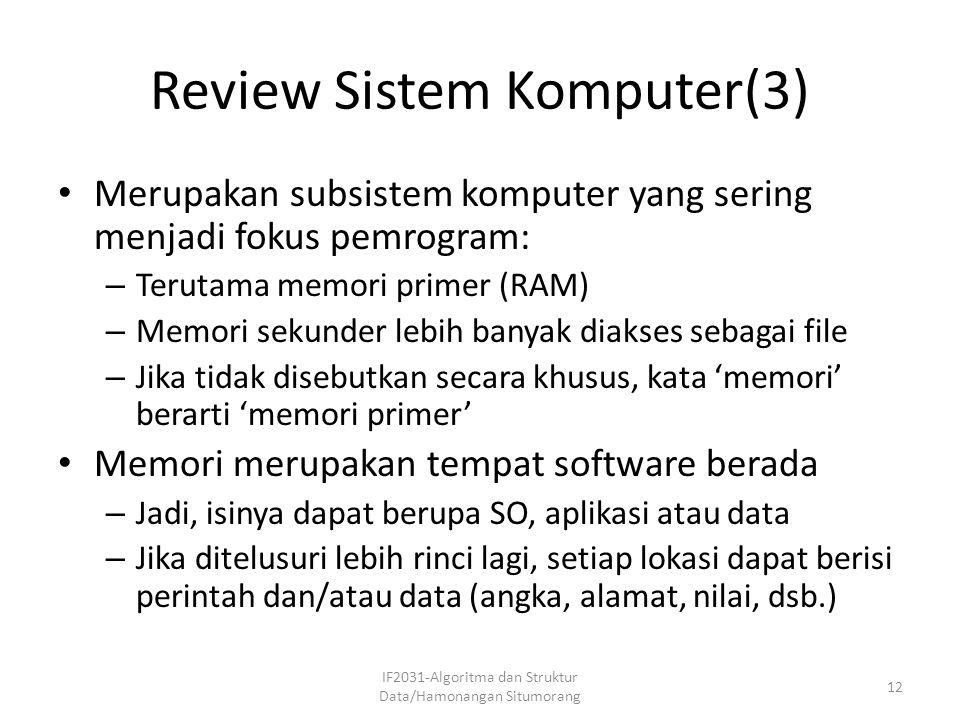 Review Sistem Komputer(3)