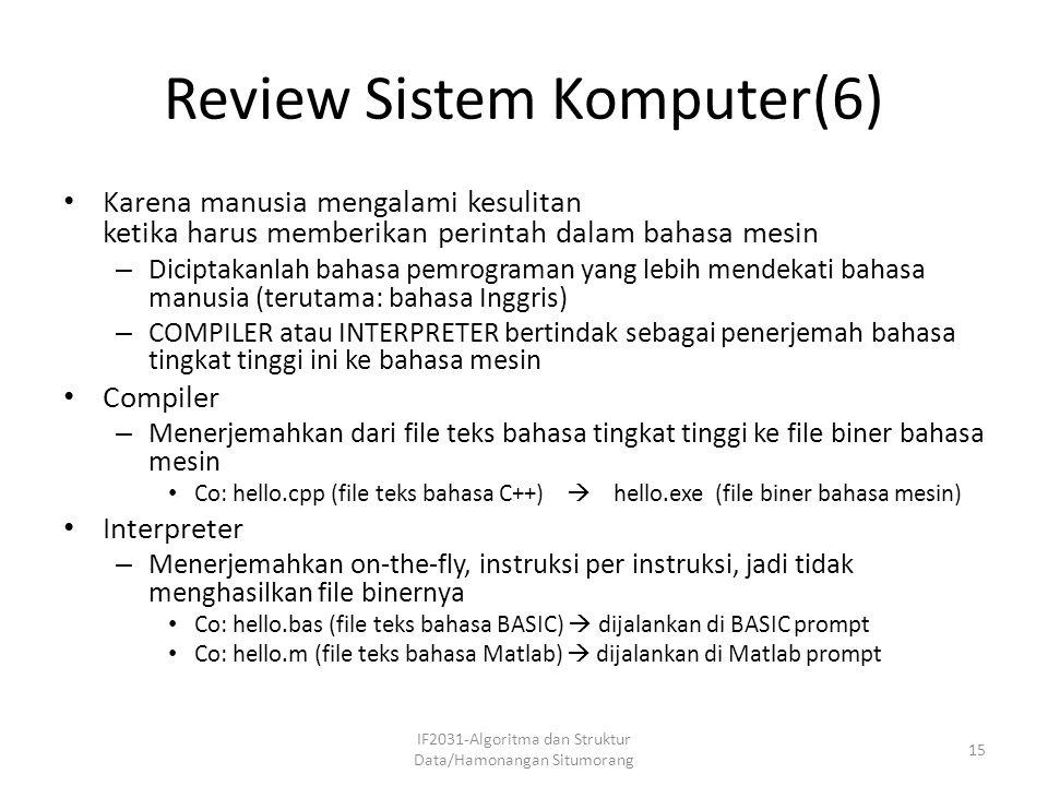 Review Sistem Komputer(6)