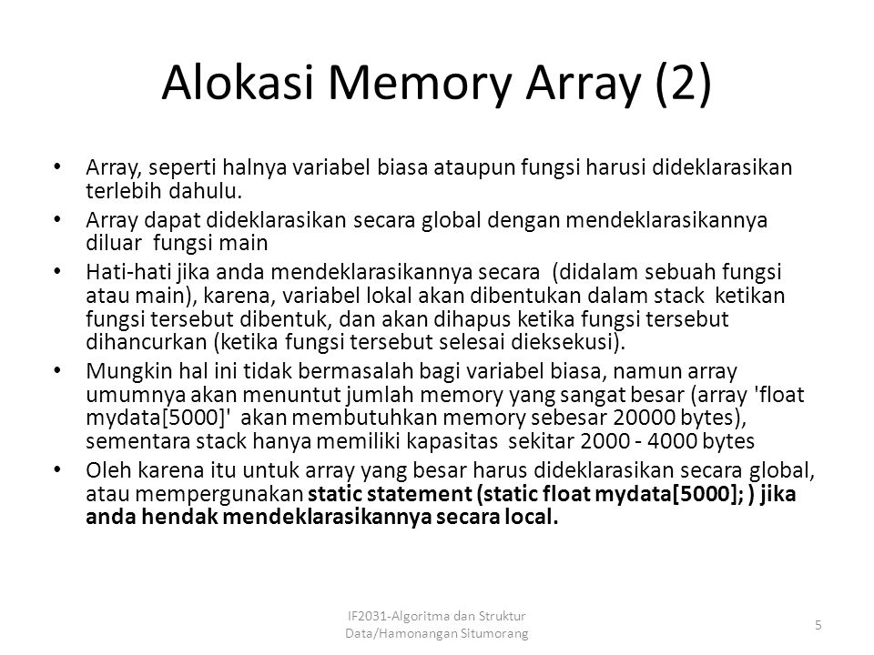 Alokasi Memory Array (2)
