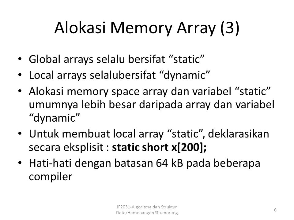 Alokasi Memory Array (3)