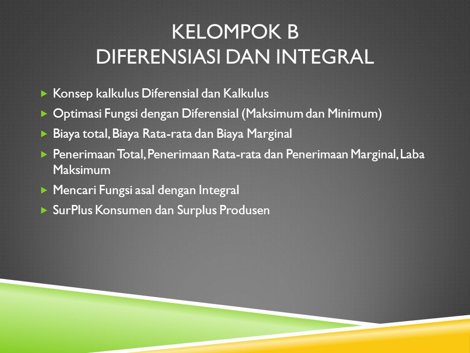 Kelompok B Diferensiasi dan Integral