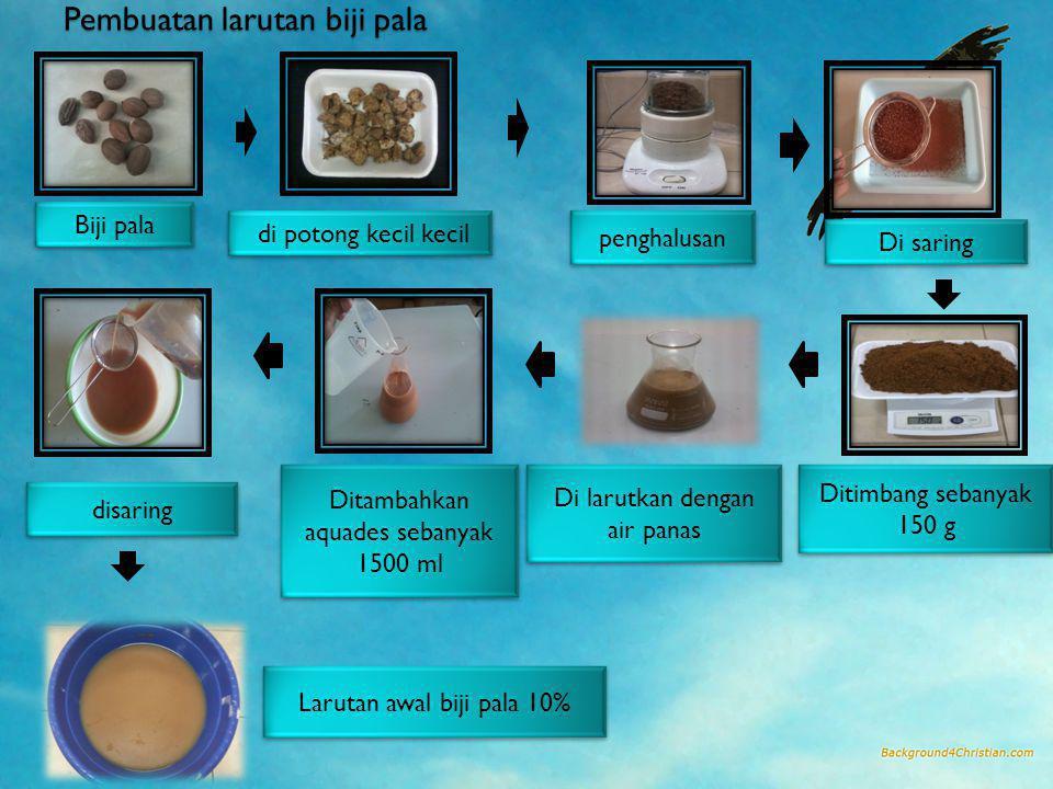 Pembuatan larutan biji pala