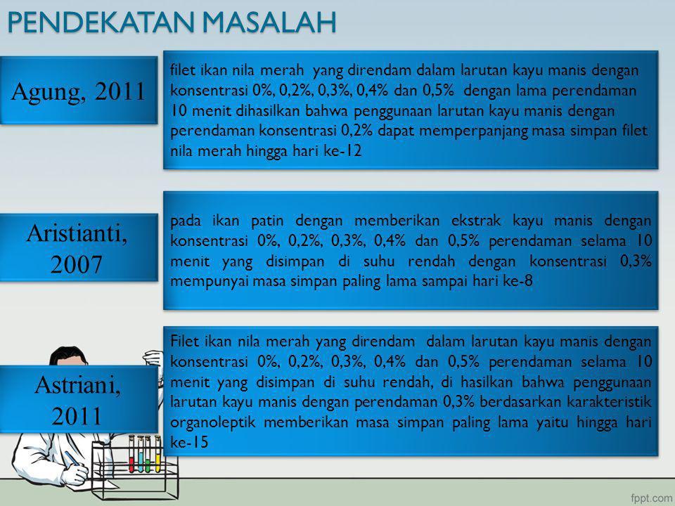 PENDEKATAN MASALAH Agung, 2011 Aristianti, 2007 Astriani, 2011