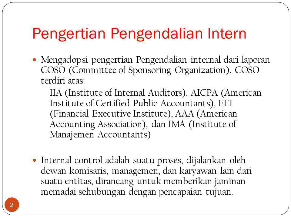 Pengertian Pengendalian Intern