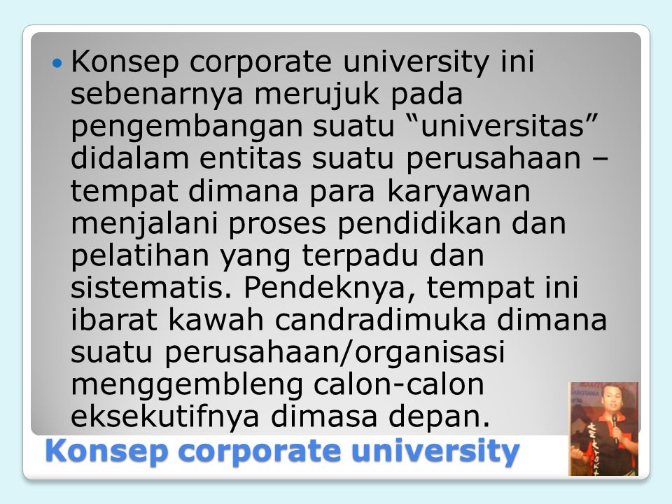 Konsep corporate university