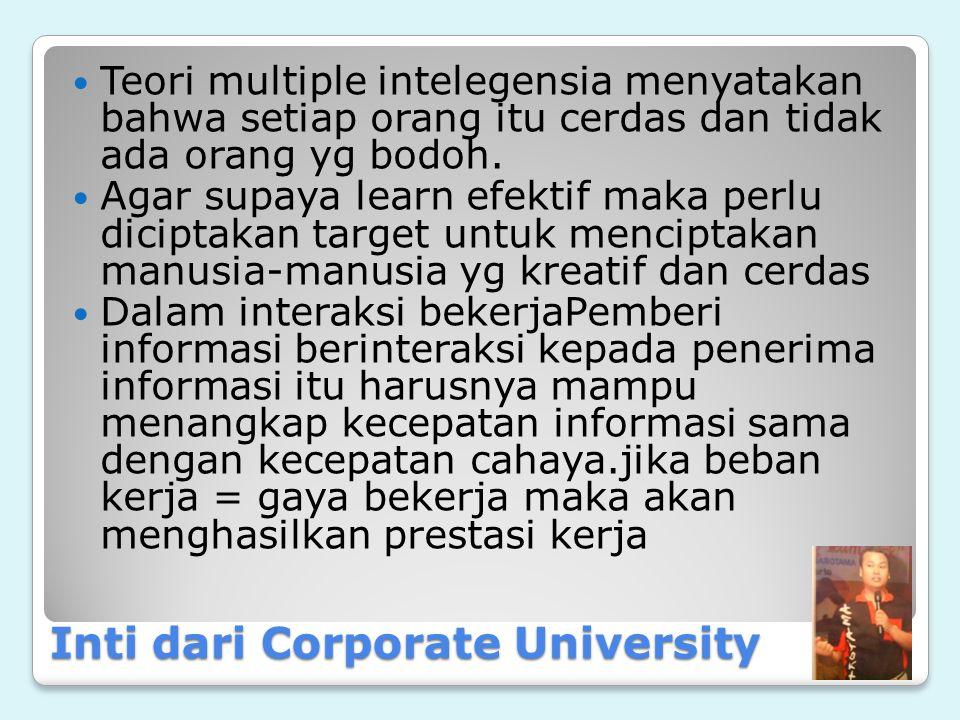 Inti dari Corporate University