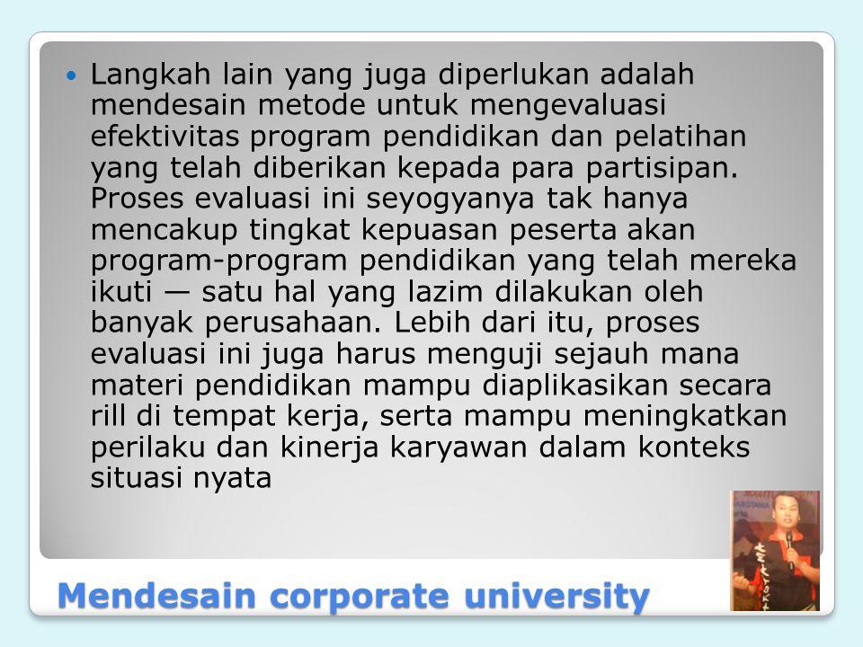 Mendesain corporate university