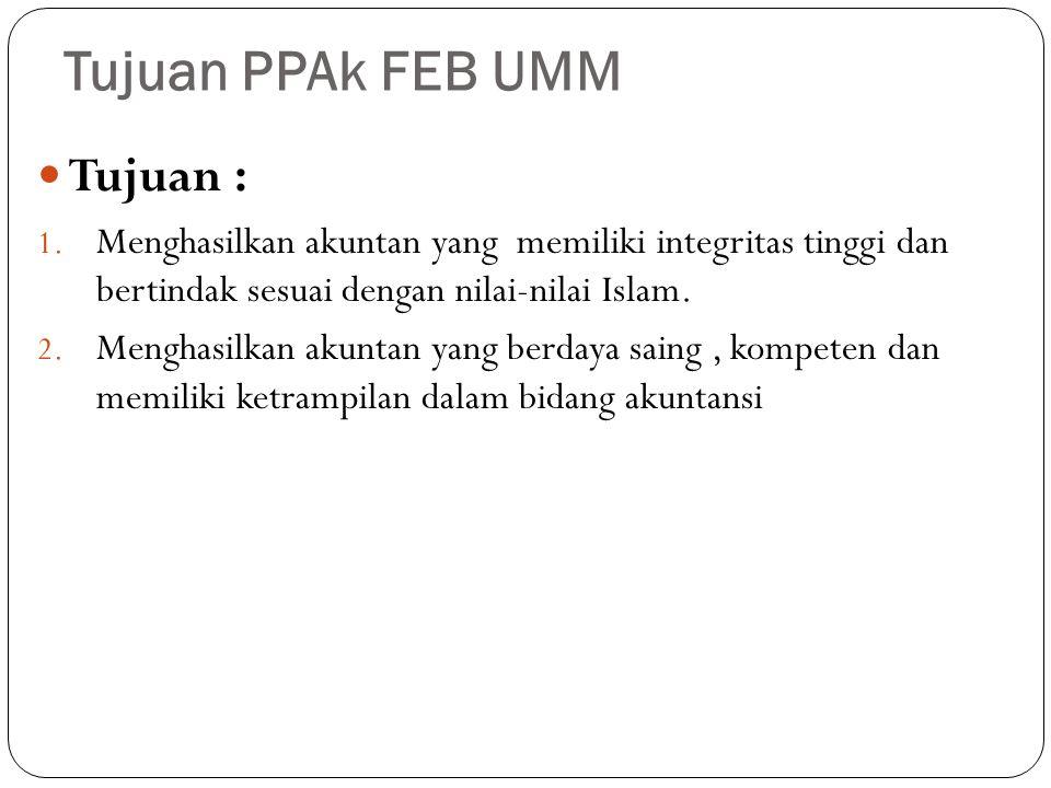 Tujuan PPAk FEB UMM Tujuan :