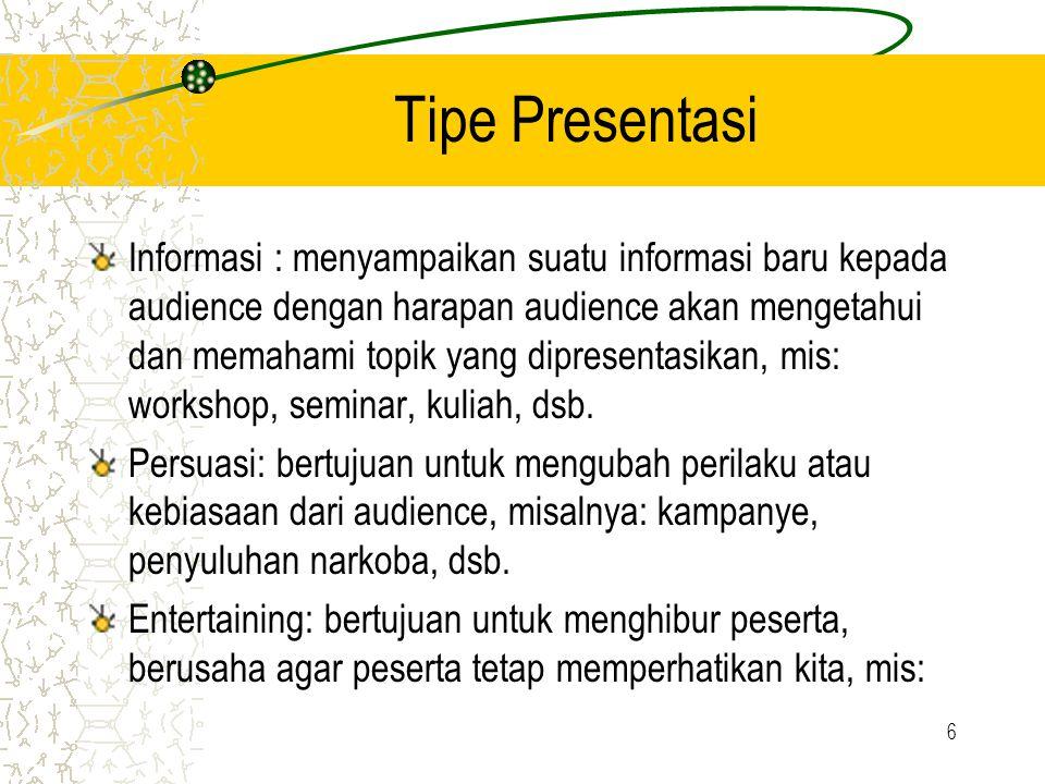Tipe Presentasi