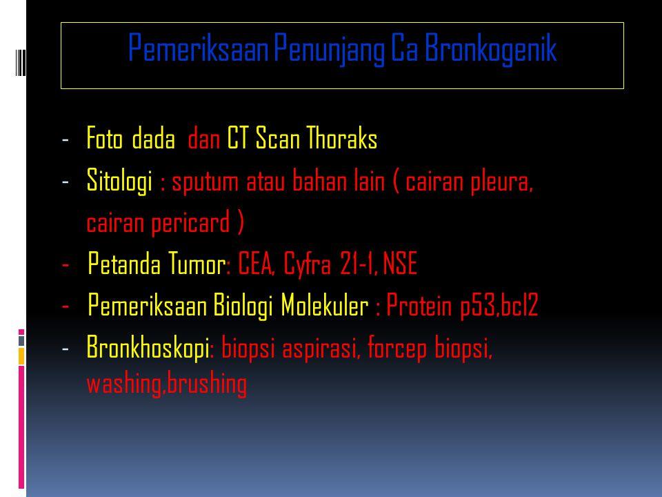 Pemeriksaan Penunjang Ca Bronkogenik