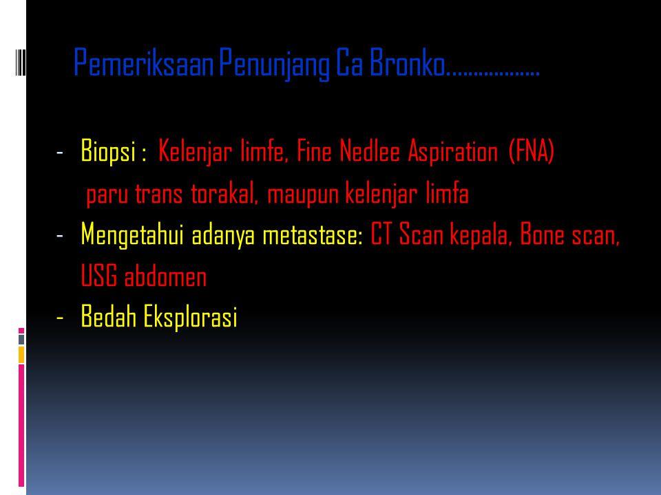 Pemeriksaan Penunjang Ca Bronko..................