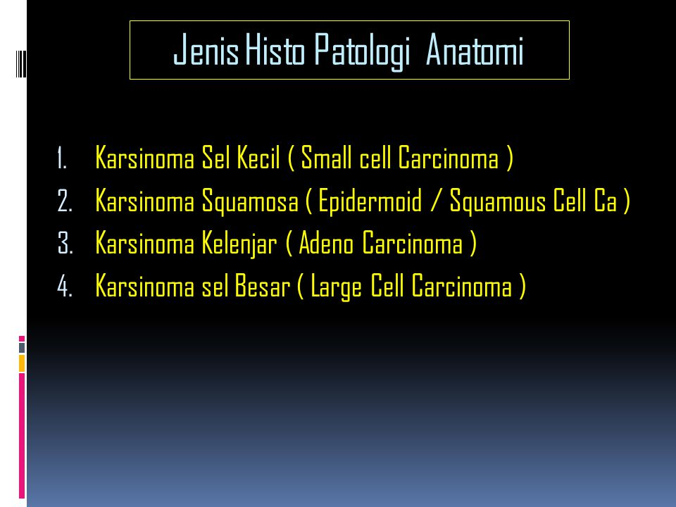 Jenis Histo Patologi Anatomi