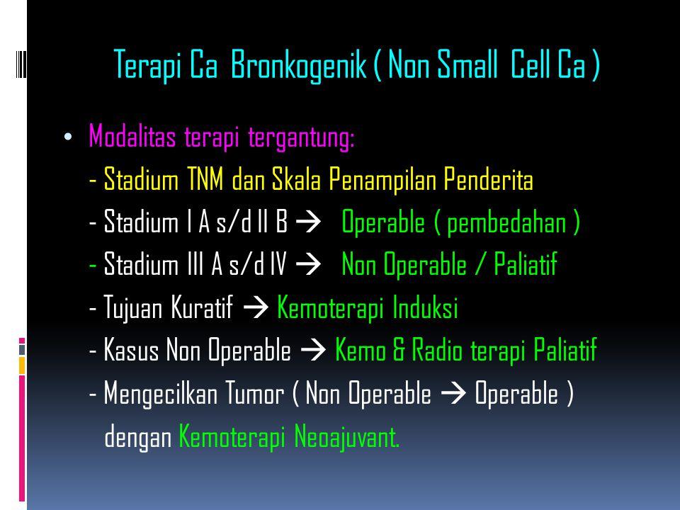 Terapi Ca Bronkogenik ( Non Small Cell Ca )