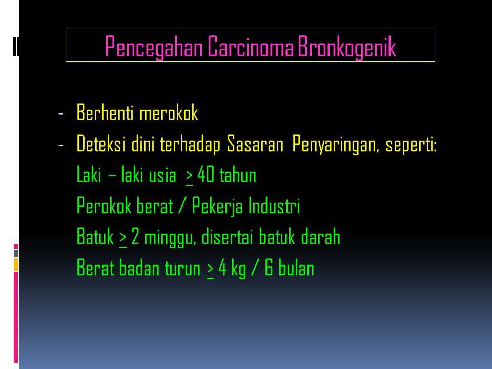 Pencegahan Carcinoma Bronkogenik