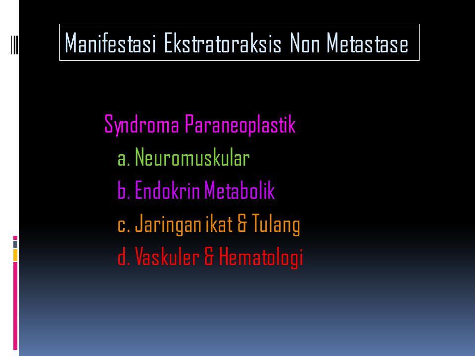 Manifestasi Ekstratoraksis Non Metastase