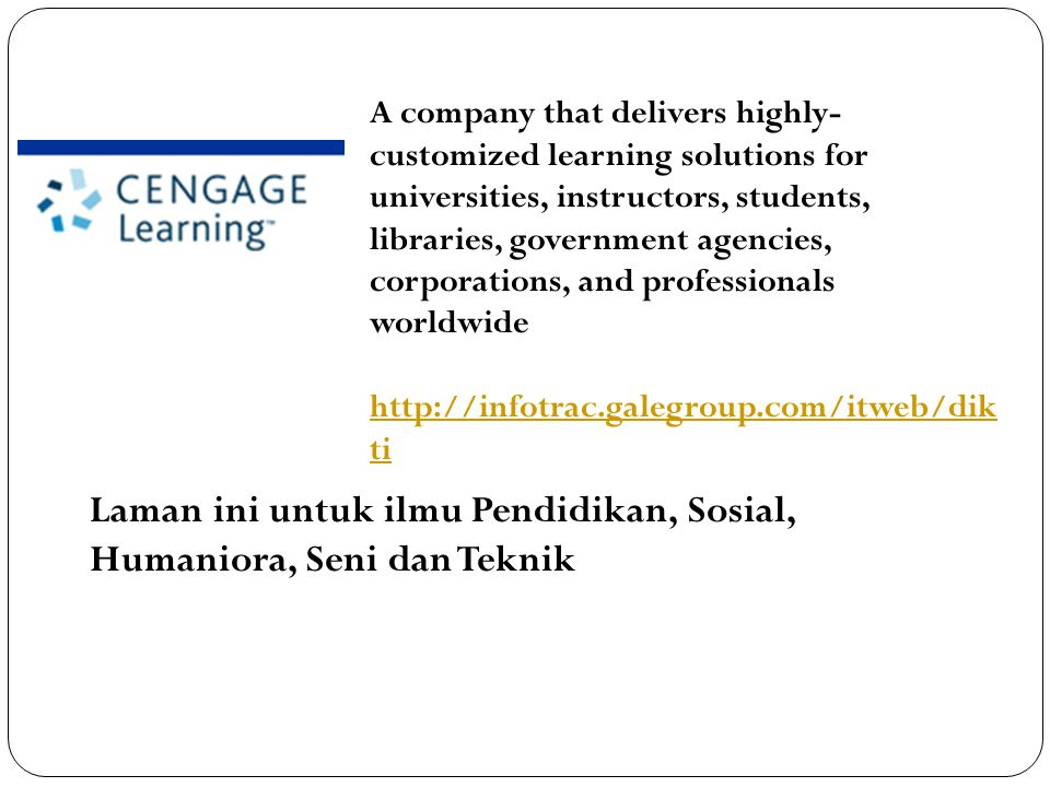 Laman ini untuk ilmu Pendidikan, Sosial, Humaniora, Seni dan Teknik