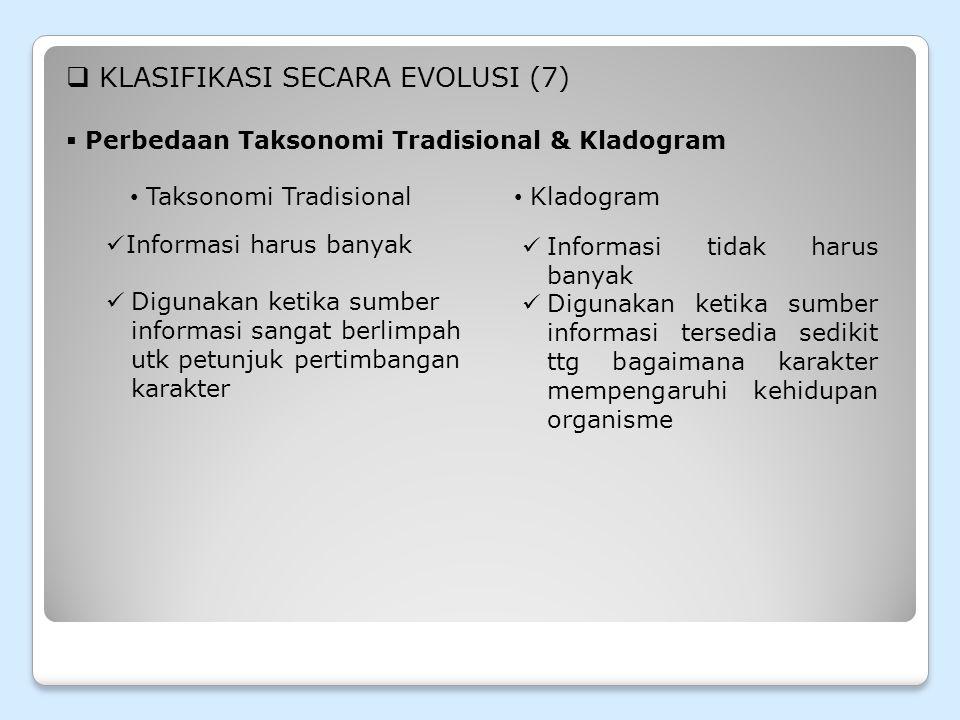 KLASIFIKASI SECARA EVOLUSI (7)