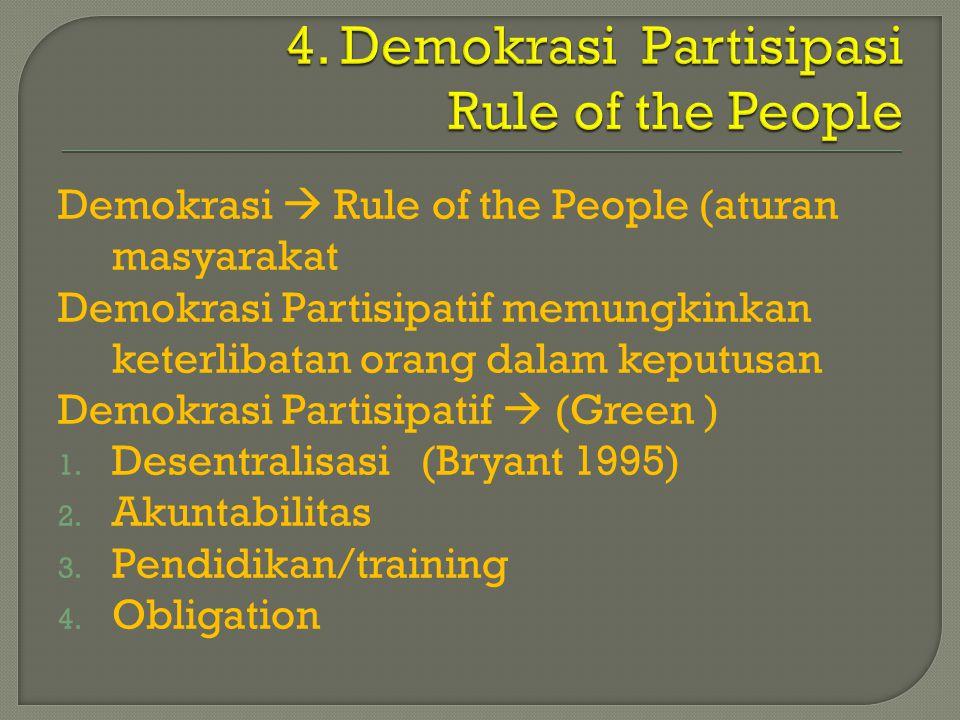 4. Demokrasi Partisipasi Rule of the People