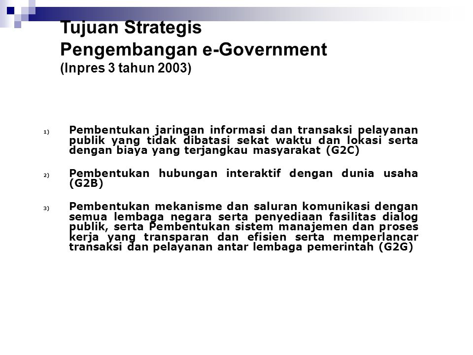 Pengembangan e-Government