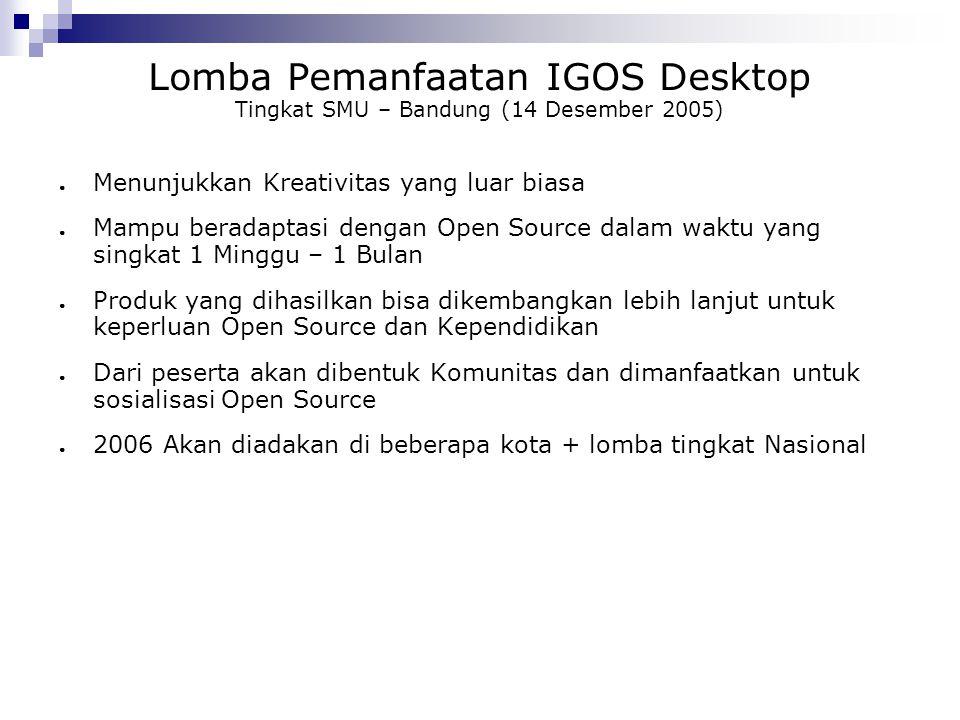 Lomba Pemanfaatan IGOS Desktop Tingkat SMU – Bandung (14 Desember 2005)