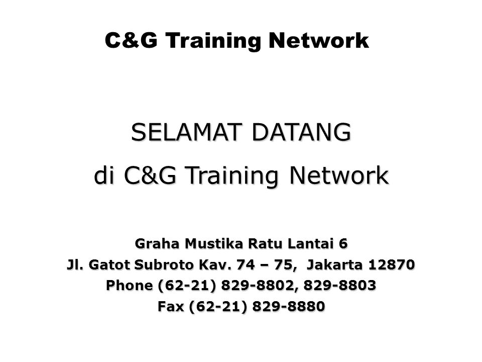 di C&G Training Network