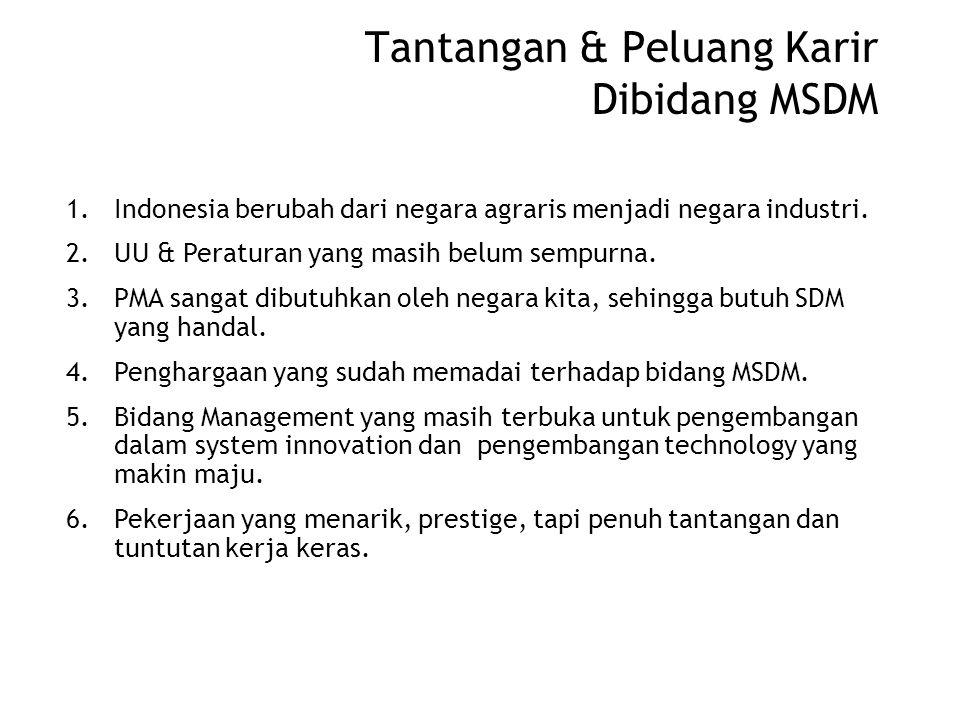 Tantangan & Peluang Karir Dibidang MSDM