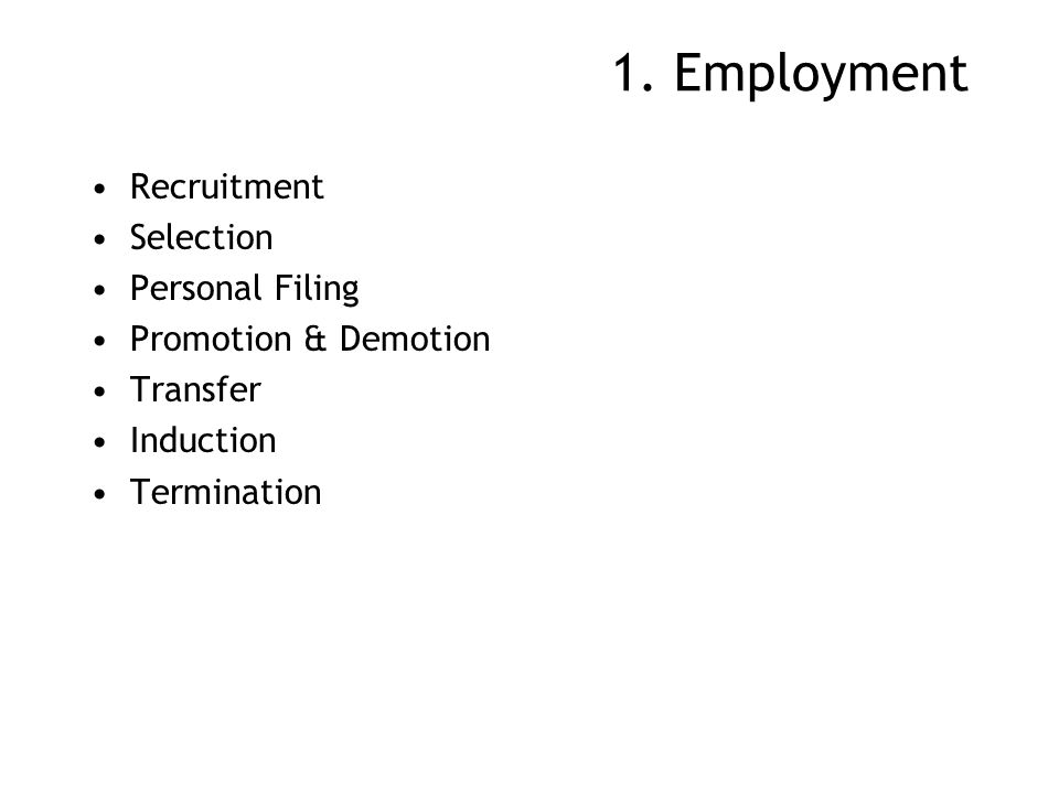 1. Employment Recruitment Selection Personal Filing