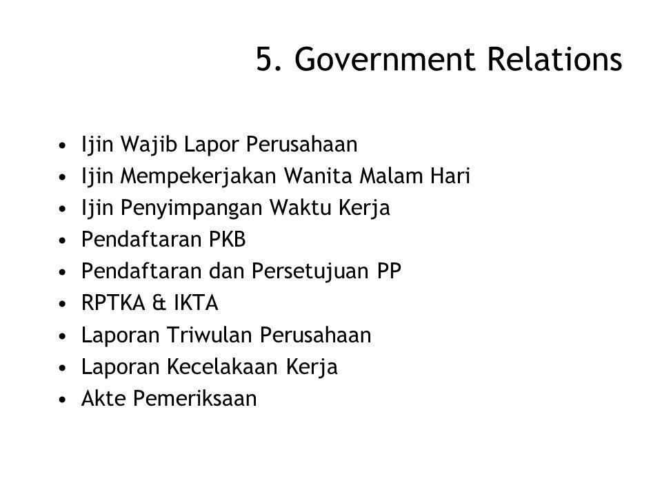 5. Government Relations Ijin Wajib Lapor Perusahaan