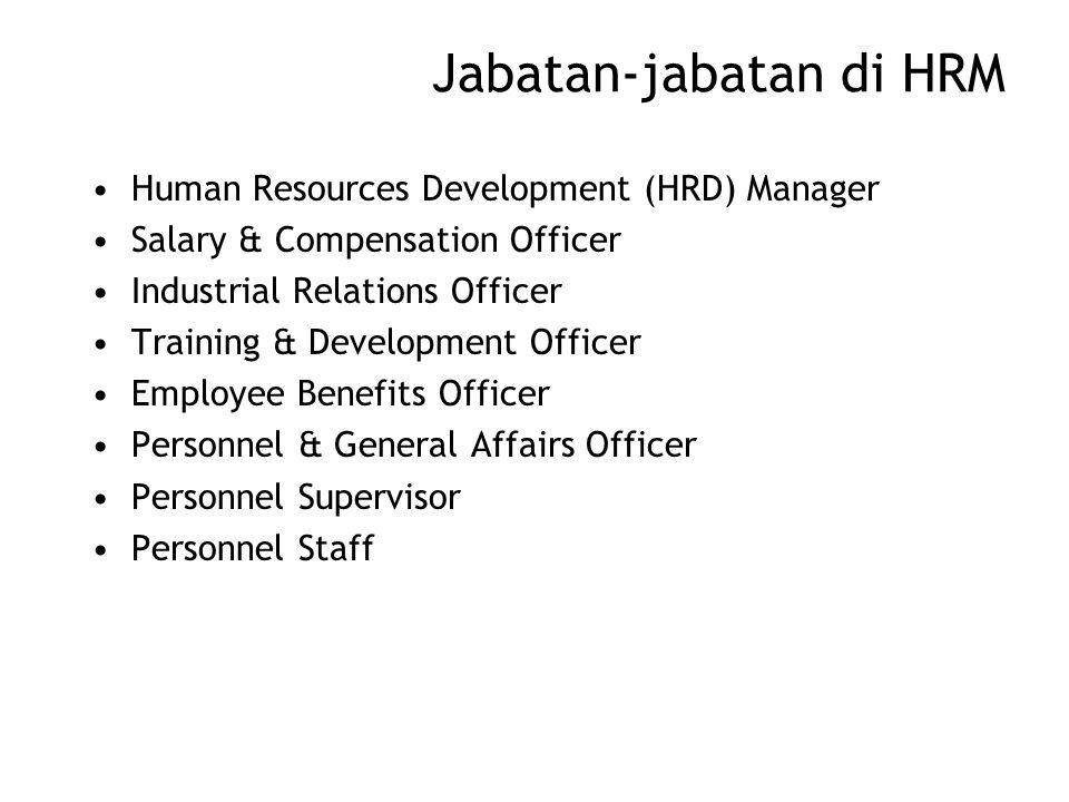 Jabatan-jabatan di HRM