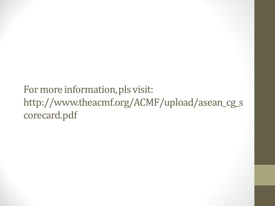 For more information, pls visit: http://www. theacmf