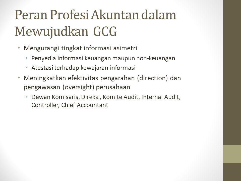 Peran Profesi Akuntan dalam Mewujudkan GCG
